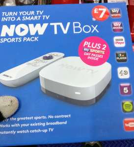 Now TV box + 2 Sky Sports day passes for £7 at WH Smith in store
