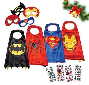 4-pack of kids' superhero costumes (boys & girls) £15.96 Prime / £19.95 non Prime Sold by LAEGENDARY and Fulfilled by Amazon.