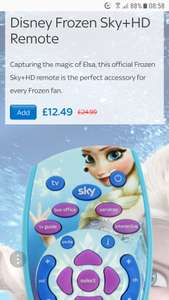 Half price Frozen Sky remote - £12.49 from Sky accessories
