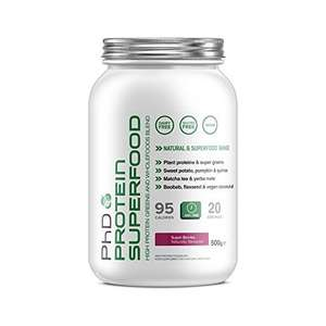 PHD Super Berries Protein Superfood Powder, 500g Amazon meal (replacement?) £10 (Prime) / £14.75 (non Prime) at Amazon