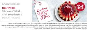 Waitrose Half Price Chilled Desserts - Saturday 16 December - one day offer only
