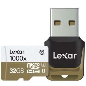 Lexar Professional 32 GB Class 10 High Performance 1000x microSDHC UHS-II Memory Card with Card Reader £16.09 PicStop