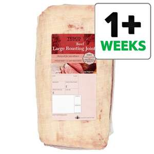 Tesco Beef Roasting joint half price £5 per kilo