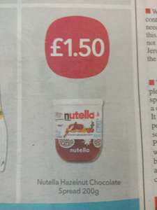 Nutella 200g £1.50 at Co-op