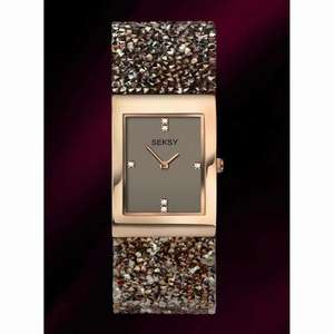 Seksy Rocks Brown Swarovski Ladies Watch 2580 | Seksy Watches £89.98 H Samuel