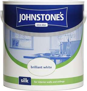 Johnstone's 306569 Silk Emulsion Paint 2.5 Litre - Brilliant White £6.99 (Prime) / £11.74 (non Prime) at Amazon Usually dispatched within 2 to 3 days.
