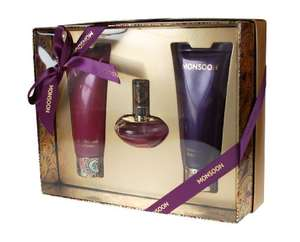 monsoon gift set  includes Eau de Toilette 30ml/ Body Cream 100ml/ Bath and Shower Cream 100ml  £6.99 (Prime) / £11.74 (non Prime) at Amazon