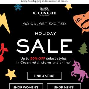 Coach Sale upto 50% off