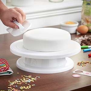 VonShef Cake Decorating Display Stand/Turntable - just £6.99 Prime / £10.98 non Prime - Sold by DOMU UK and Fulfilled by Amazon