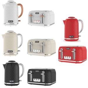 Breville Curve Kettle £37.99 in White/Rose Gold (Others colours too) / Matching 4 Slice toaster £37.99 @ Currys