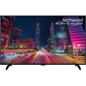 "Techwood 65AO5USB 65"" Freeview HD and Freeview Play Smart 4K Ultra HD TV - Black £699 @ AO"
