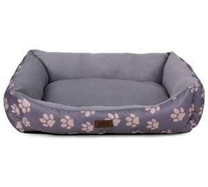 King Pets Value Paw Print Medium Rectangular Bed - Grey was £12.99 now £6.79 / Large was £16.99 now £8.79 w/code C+C @ Argos (more in OP - code takes 20% Off Pet Care)