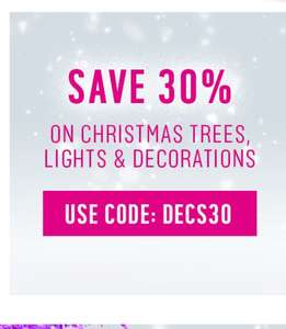 Argos 30% off Christmas decorations, lights and trees NO SPEND LIMIT.