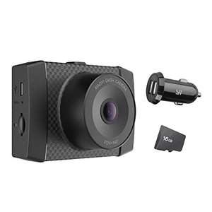 YI 2.7K Dash Cam with MEMS 3-Axis G-Sensor, Voice Control + LCD screen (Includes 16GB Card and Car Adapter) now  £61.99 w/code Sold by YI Official Store UK / Fulfilled by Amazon