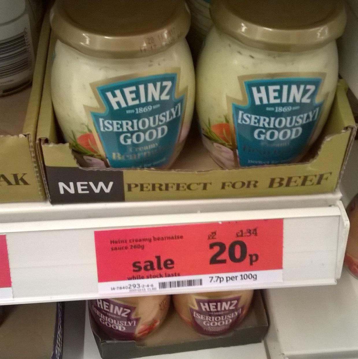 Heinz Creamy Béarnaise Sauce 20p in Sainsbury's Calcot