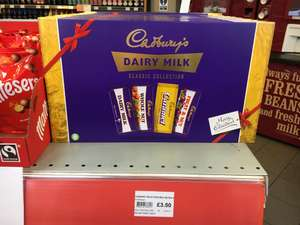 Cadbury Retro Selection Box 460g for £3.50 - 4 Bars (Dairy Milk, Whole Nut, Caramel and Fruit & Nut) @ BP Garage, Oversley Mill Services, Alcester