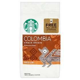Starbucks Colombia Single-Origin Medium Ground 100% Arabica Coffee 200g £2.49 @ Asda