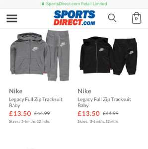 Nike Legacy Tracksuits (baby) £13.50 / £18.49 delivered @ Sports direct