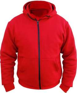 "Amazon - Australian Bikers Gear CE Armoured 100% Full Kevlar Ultimate Motorcycle Protection Red Hoodie Fleece (2XL - 48"" chest) £25.93"