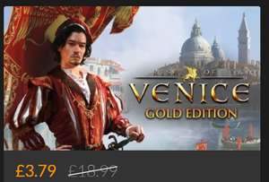 Rise of Venice Gold PC game on Fanatical for only £3.41 for Steam key with code @ Fanatical