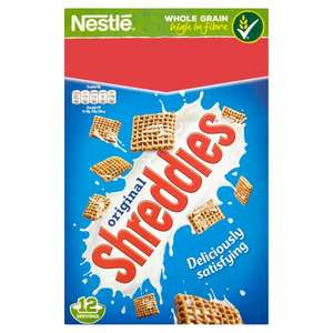 NESTLE ORIGINAL SHREDDIES CEREAL 500G only 50p @ Poundstretcher