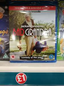 Bad Grandpa Blu-ray (New Explicit & Extended Version) £1 @ Poundland