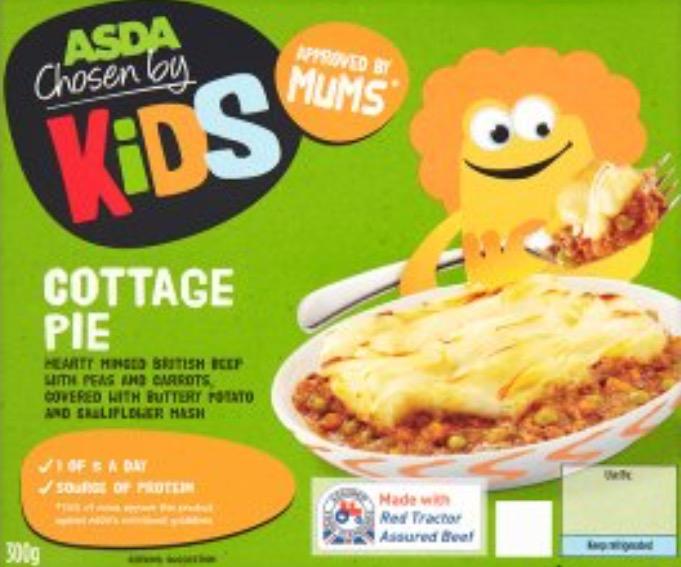 Asda Chosen By Kids meals 2 for £1 (or 89p each) - cheaper than a can of spaghetti!