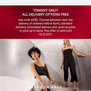 Free next day delivery at H&M