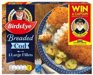 Birds Eye 4 Breaded Large Cod Fillets (480g) Save £1.00 was £4.00 now £3.00 @ Tesco