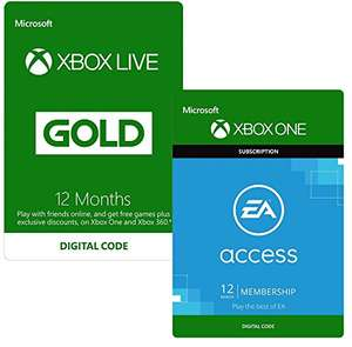 12 Months Xbox Live Gold & EA Access - £44.99 @ Amazon