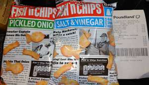 Fish N Chips (125g Share Packs) Pickled Onion, Salt And Vinegar, 2 For £1 In Store @ Poundland, Trongate, Glasgow