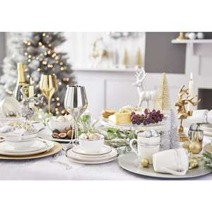 Radiance Gold Dinner Set 12pcs in store and online with free C&C Save £6.50 - £18.50 @ Wilko