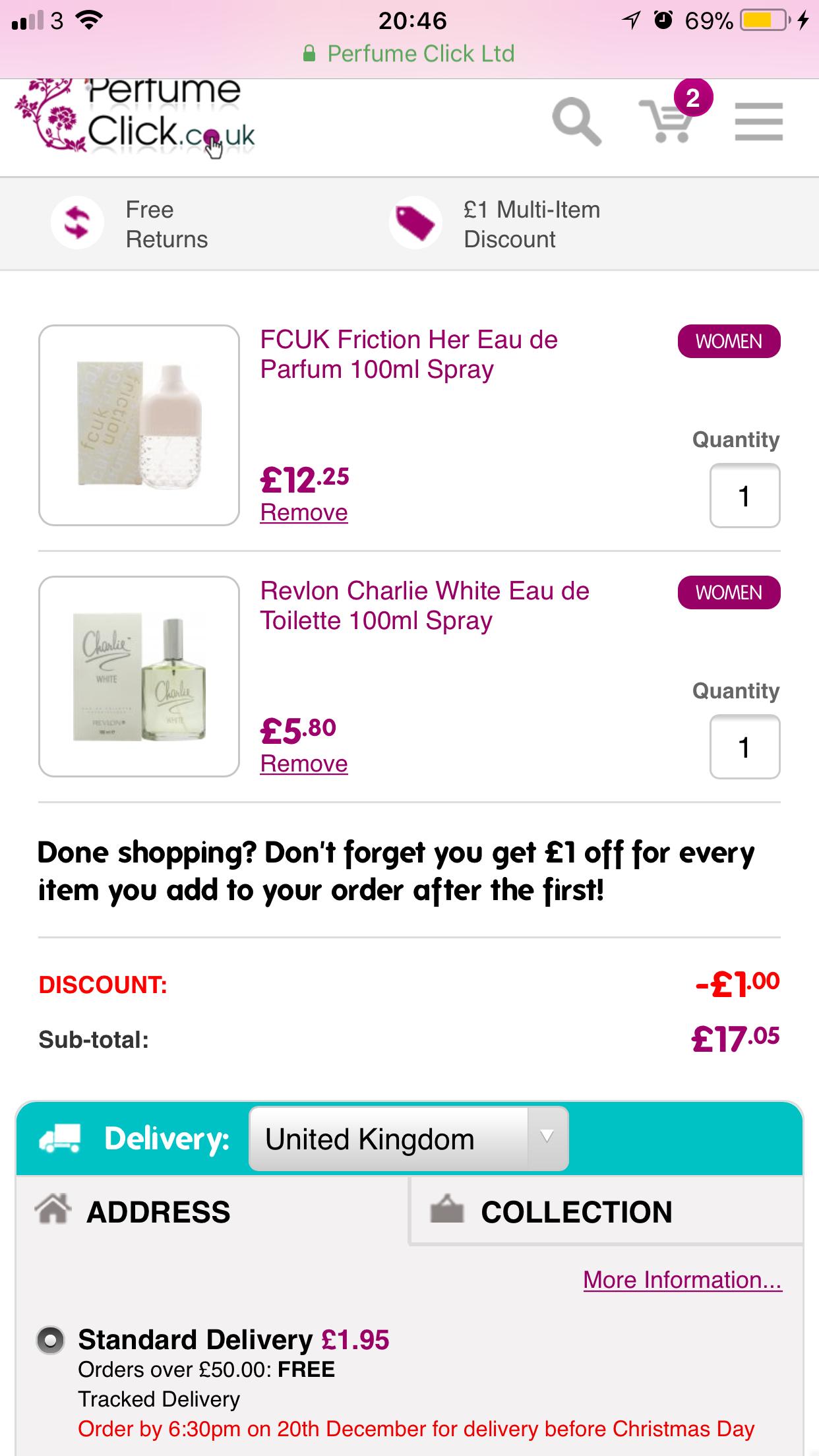 FCUK Friction EDP 100ml & Revlon Charlie White EDT 100ml for just £19 delivered @ perfume click