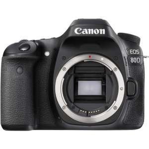 Canon 80D Dual Pixel AF 24 MP camera body £592.99 with code @ Eglobalcentral