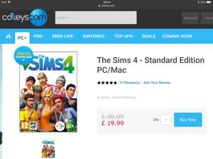 Sims4 digital download PC/Mac. cdkeys.com - £19.99