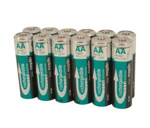 NiMH Extra High Capacity NiMH Rechargeable 2000mAh AA Batteries 12 Pack - Half Price £12.49 @ Maplin