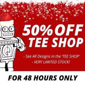 All t-shirts half price at  Qwertee