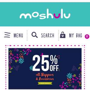 Moshulu 25% off + Free standard delivery