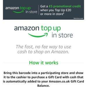 Amazon Get £5 Promotional Credit when you top up £20 cash using Paypoint in-store (thought it was worthy of a re-post as offer has been extended again)