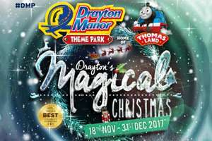 1 Night Hotel Stay + Tickets to Drayton Manor/Thomas Land Magical Christmas for Family of 4 from £25.25pp (£101) with 10% Off Ticket code via 365 Tickets (can buy tickets on their own)