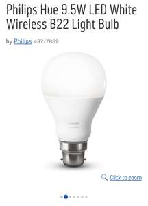 Philips Hue 9.5W B22  bulb £14.99 or 3 for £29.98 @ Argos