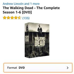 The walking dead seasons 1-6 dvd from Amazon - £18.82 (Prime) £21 (non Prime)