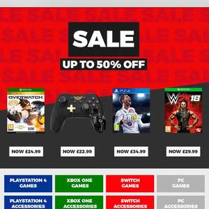 Game Sale up to 50 % off