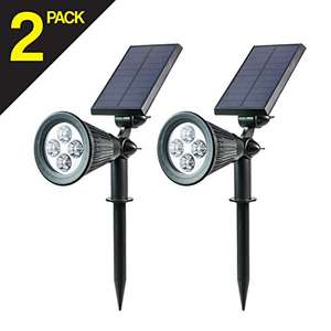 Led Solar Spotlights £13.99 (+£4.75 non prime) Sold by Deals_Republic and Fulfilled by Amazon