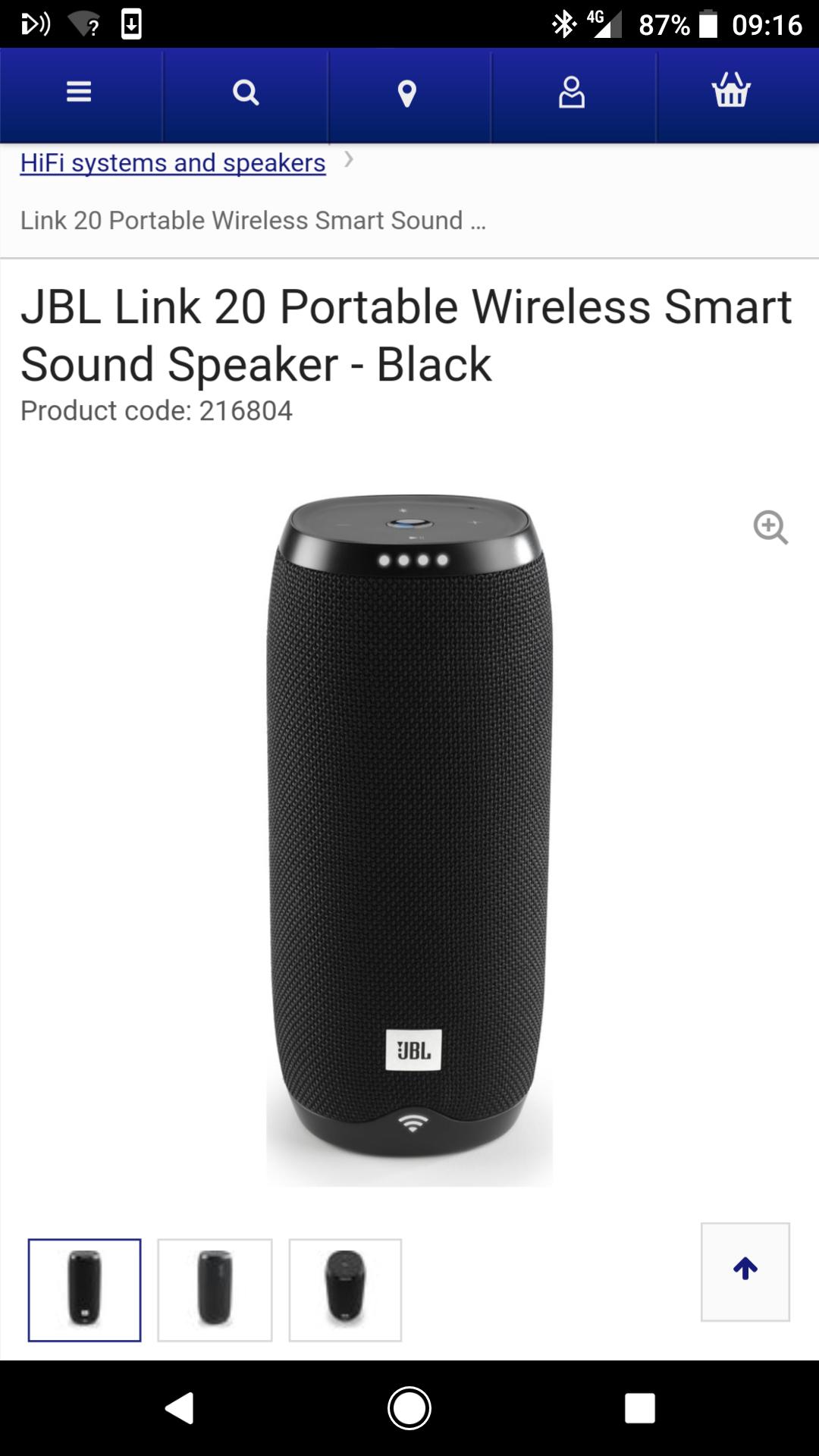 JBL link 20 smart speaker - £129 @ Currys
