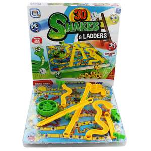3D Snakes and Ladders £5.40 C+C With Code @ the Works