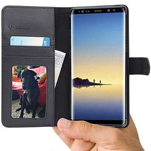 Samsung Galaxy Note8 Wallet with Leather Flip Cover @ £2.95 (Prime) £6.94 (Non Prime) @ Sold by Abacus24-7 and Fulfilled by Amazon