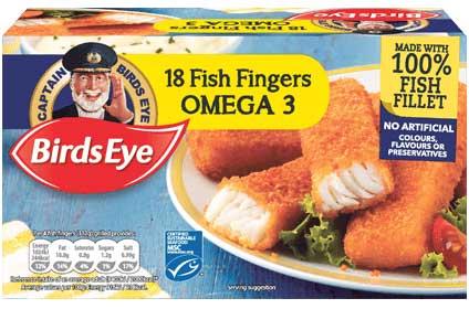 Birds eye omega3 fishfingers 18 pk,3 for £5 Tesco