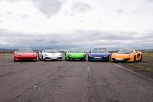 Virgin Experience Days - drive five supercars + passenger ride 1/2 price @ £109