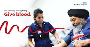 Donate Blood - get a free tea, coffee or juice plus a biscuit, maybe even mince pie!